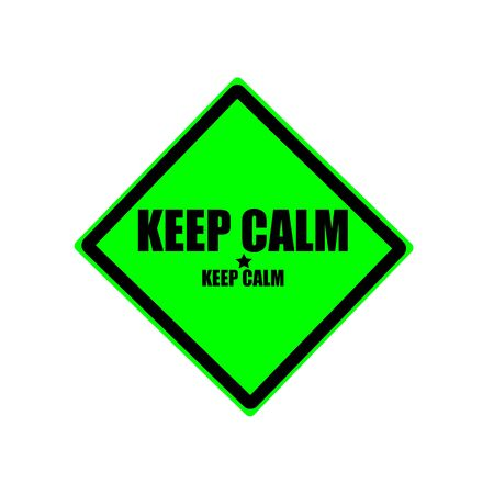hassle: Keep calm black stamp text on green background Stock Photo