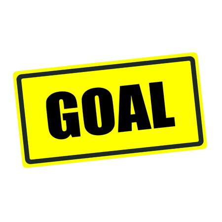 footy: GOAL back stamp text on yellow background