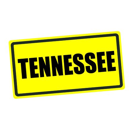 tennessee: Tennessee back stamp text on yellow background