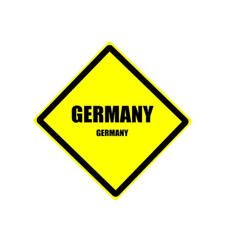 Germany Black stamp text on yellow background photo