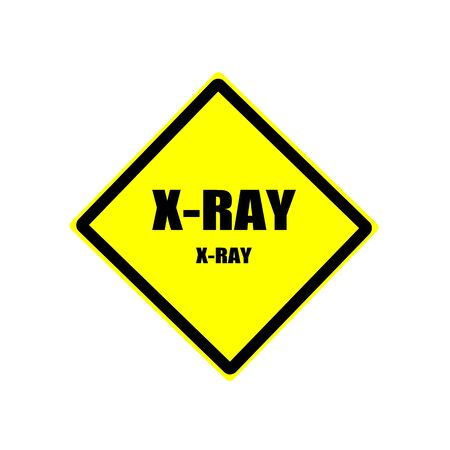 mammography: X-Ray Black stamp text on yellow background Stock Photo