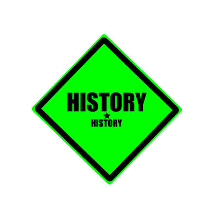 fib: History black stamp text on green background Stock Photo
