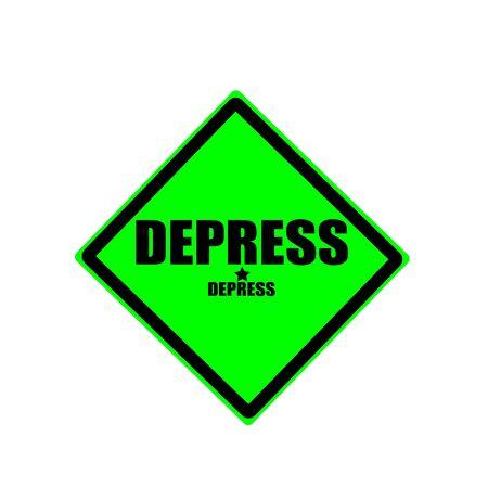 depress: Depress black stamp text on green background