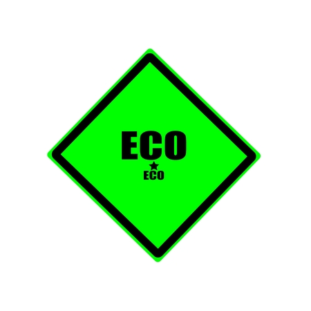 els: Eco black stamp text on green background Stock Photo
