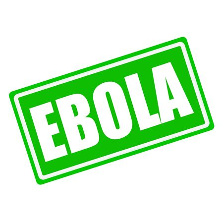 swine flu vaccines: EBOLA white stamp text on green background