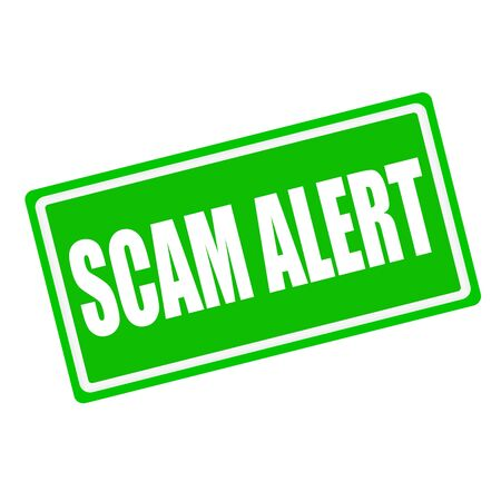 swindle: SCAM alert white stamp text on green background