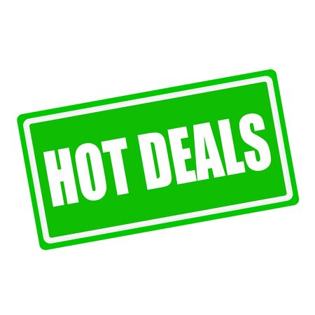 hot deals: Hot deals white stamp text on green background