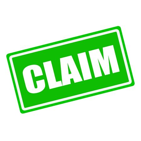 care allowance: CLAIM white stamp text on green background