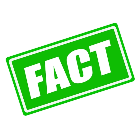 fact: FACT white stamp text on green background