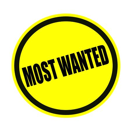 covet: Most wanted black stamp text on yellow