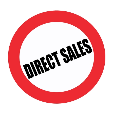 direct sale: Direct sales black stamp text on white Stock Photo