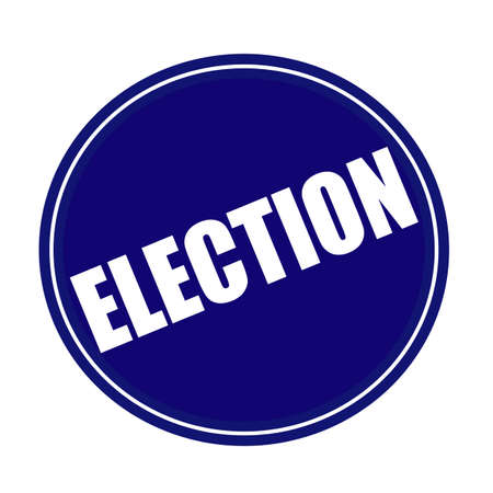 local council election: Election white stamp text on blue