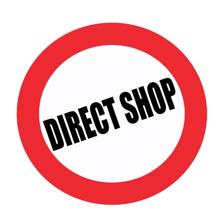implicit: Direct shop black stamp text on white Stock Photo