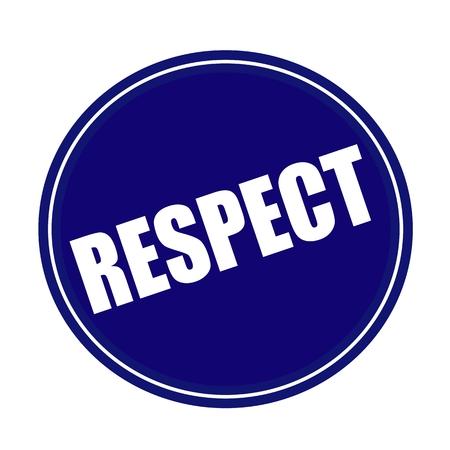 respeto: Texto RESPETO sello blanco en azul