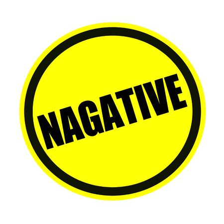 unacceptable: Negative black stamp text on yellow Stock Photo