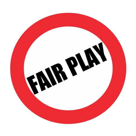 fair play: Fair play black stamp text on white