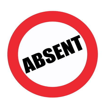 absent: Absent black stamp text on white Stock Photo