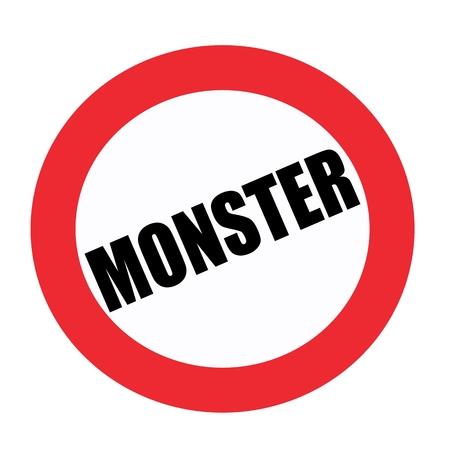 weirdo: Monster black stamp text on white