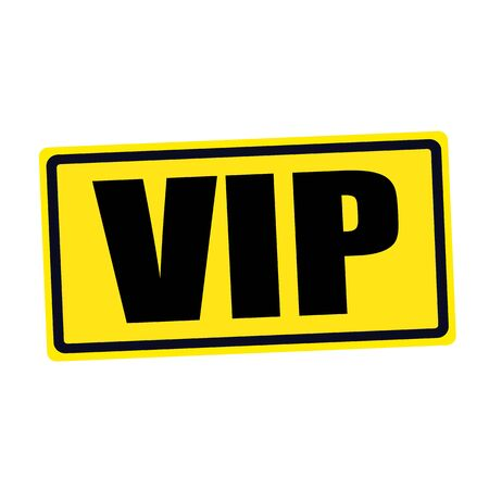 vip area: VIP black stamp text on yellow