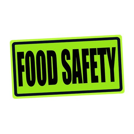 surety: FOOD SAFETY black stamp text on green Stock Photo