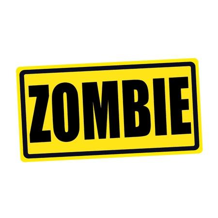 Zombie black stamp text on yellow Stock Photo