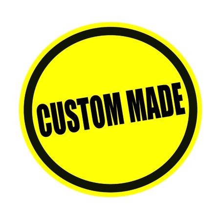 custom made: Custom made black stamp text on yellow