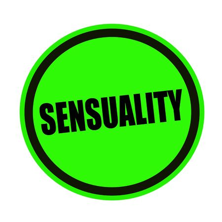sensuality: Sensuality black stamp text on green