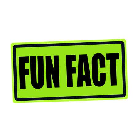 fact: FUN FACT black stamp text on green