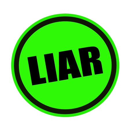 deceitful: Liar black stamp text on green Stock Photo