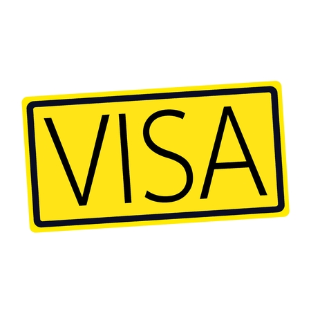 confirmed verification: VISA black stamp text on yellow
