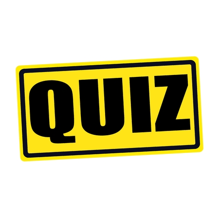 quizzing: QUIZ black stamp text on yellow