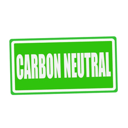 carbon neutral: CARBON NEUTRAL white stamp text on green Stock Photo
