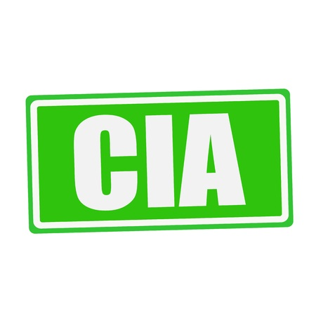 CIA: CIA white stamp text on green Stock Photo