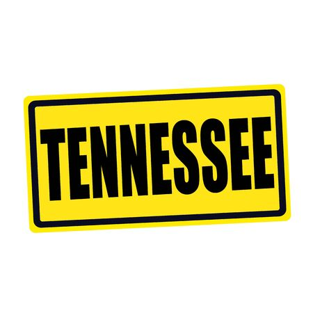 Tennessee black stamp text on yellow photo