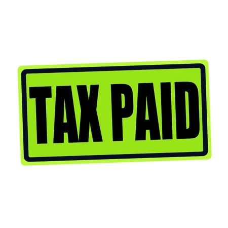excise: TAX PAID black stamp text on green