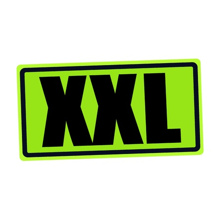 xxxl: XXL black stamp text on green