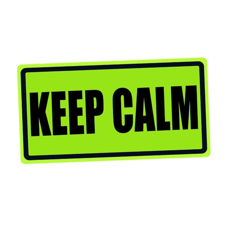 pressurized: KEEP CALM black stamp text on green Stock Photo