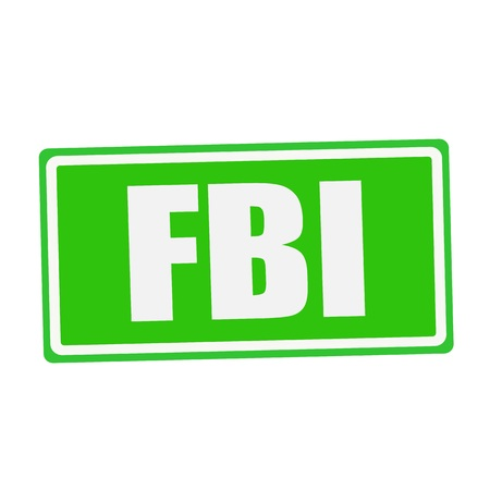 conspire: FBI white stamp text on green