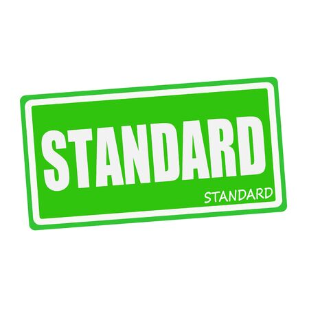 criterion: STANDARD white stamp text on green