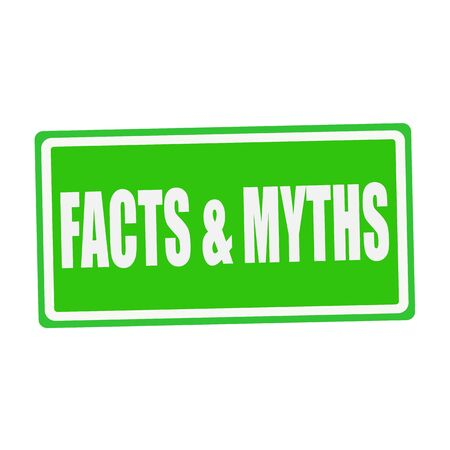 facts: FACTS & MYTHS white stamp text on green