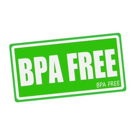 bpa: BPA FREE white stamp text on green