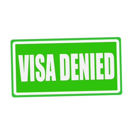 confirmed verification: VISA DENIED white stamp text on green