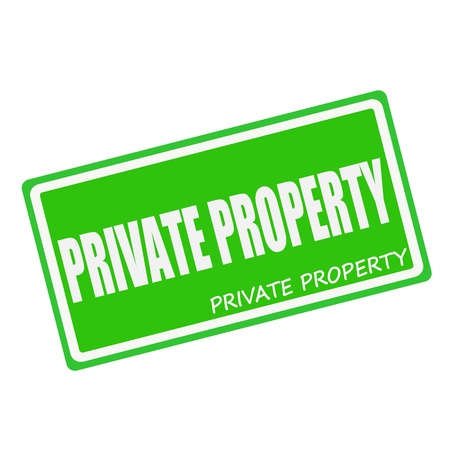 private property: PRIVATE PROPERTY white stamp text on green Stock Photo