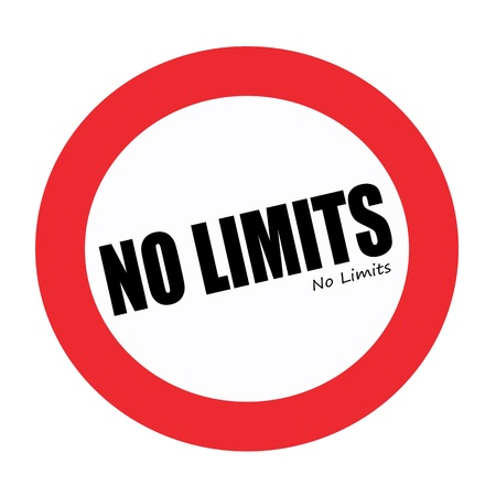 limitation: No limits black stamp text on white Stock Photo