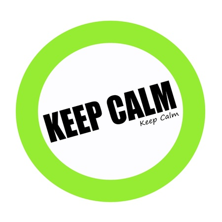 hassle: KEEP CALM black stamp text on green Stock Photo
