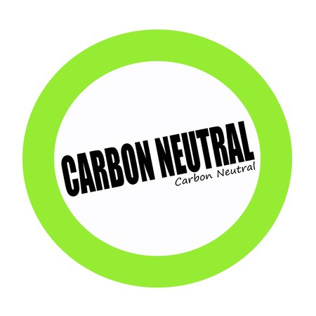 carbon neutral: CARBON NEUTRAL black stamp text on green Stock Photo