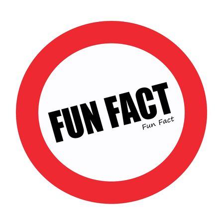 fact: FUN FACT black stamp text on white Stock Photo