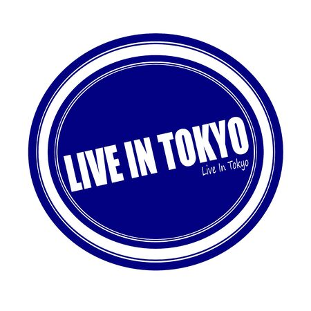 current events: LIVE IN TOKYO white stamp text on blue