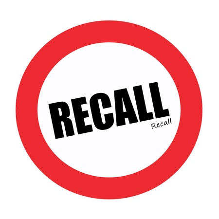 recall: RECALL black stamp text on white