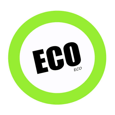 els: ECO black stamp text on green